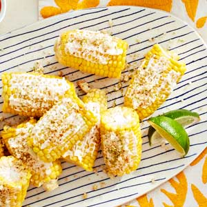 Corn with Lime and Cotija