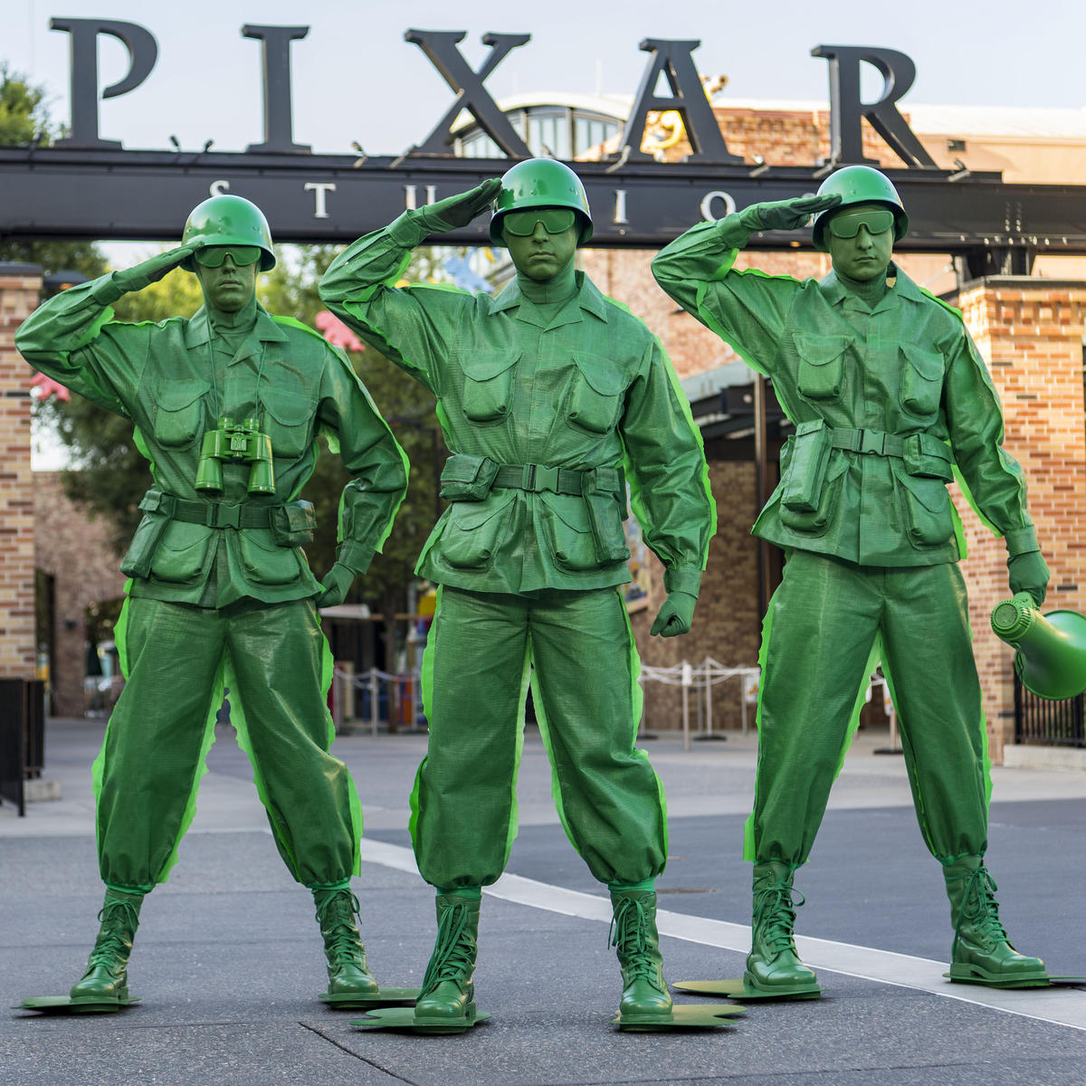 Andy's green army men Toy Story Land