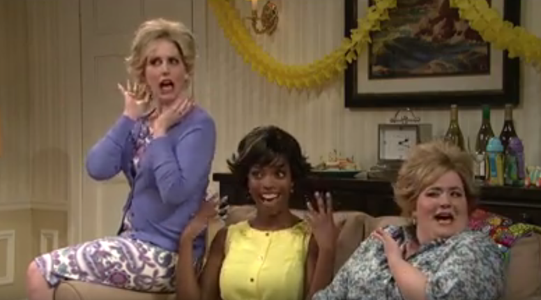 """Saturday Night Live celebrated Mother's Day with a funny sketch about """"the cut"""" or hairstyle most moms seem to get."""