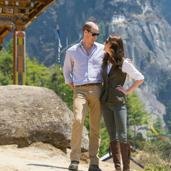 prince william and kate middleton in bhutan