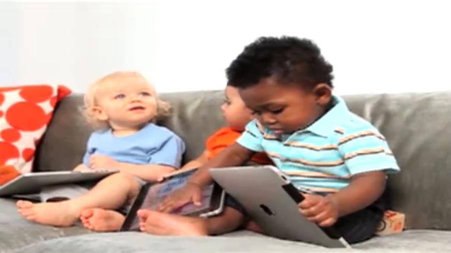 Babies Discuss How Awesome Parents Magazine Is on the iPad