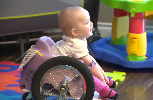 This Paralyzed Tot Is Unstoppable (and Inspiring!) in Her Tiny DIY Wheelchair