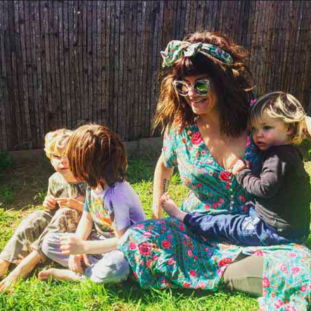 constance hall and kids