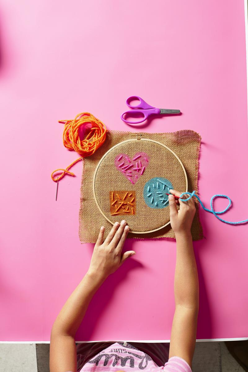 Sew Fun! 3 Easy Embroidery Projects for Kids
