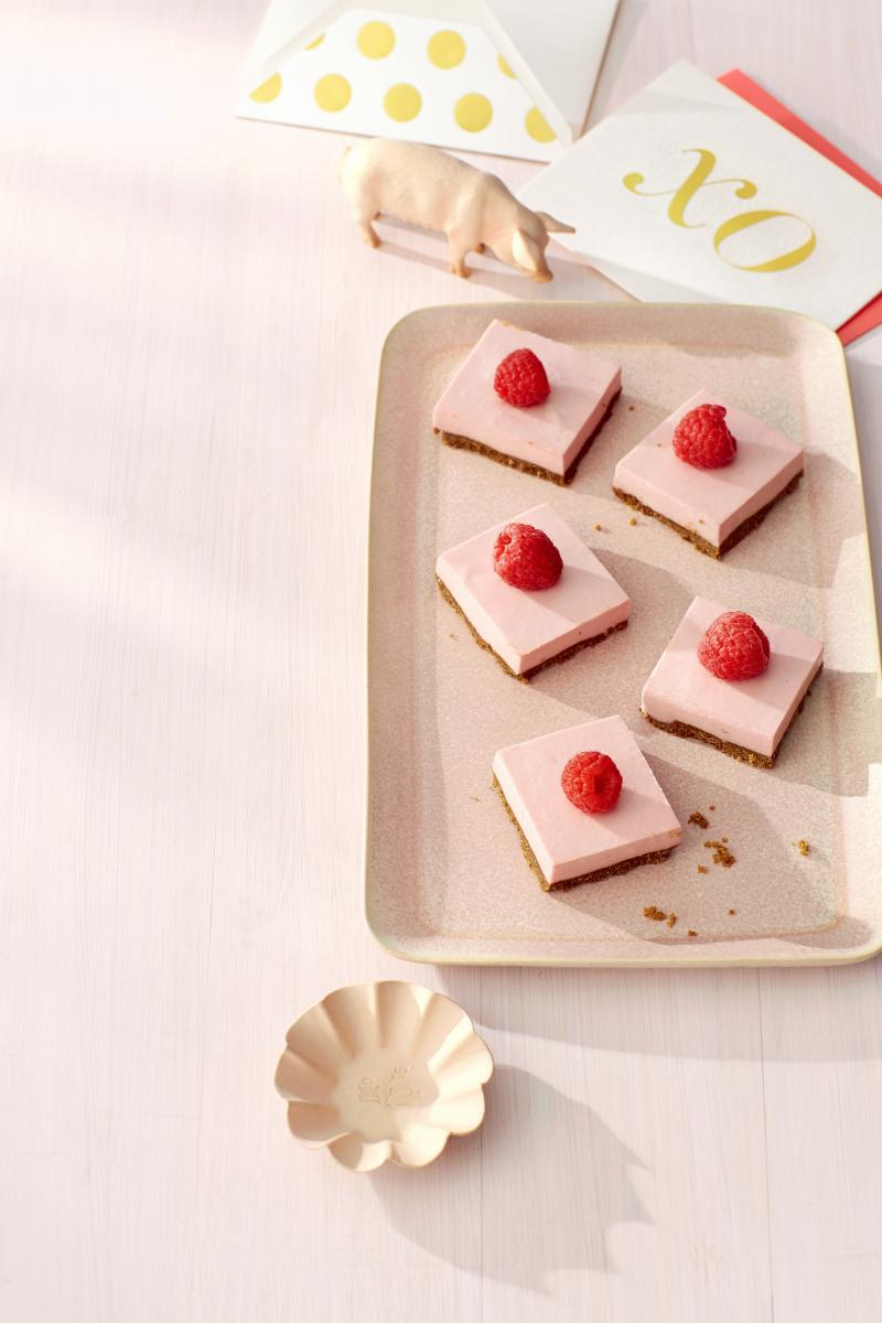 Think Pink Treats Raspberry Gingersnap Cheesecake Bars