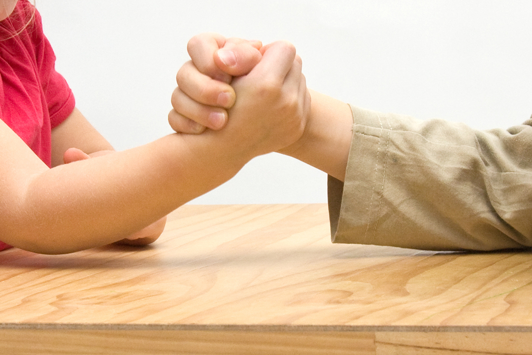 No One Has Ever Taken an Arm-Wrestling Contest as Seriously as This Little Girl