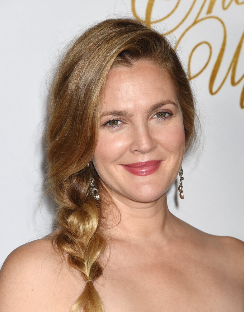 Drew Barrymore Side Tail Braid