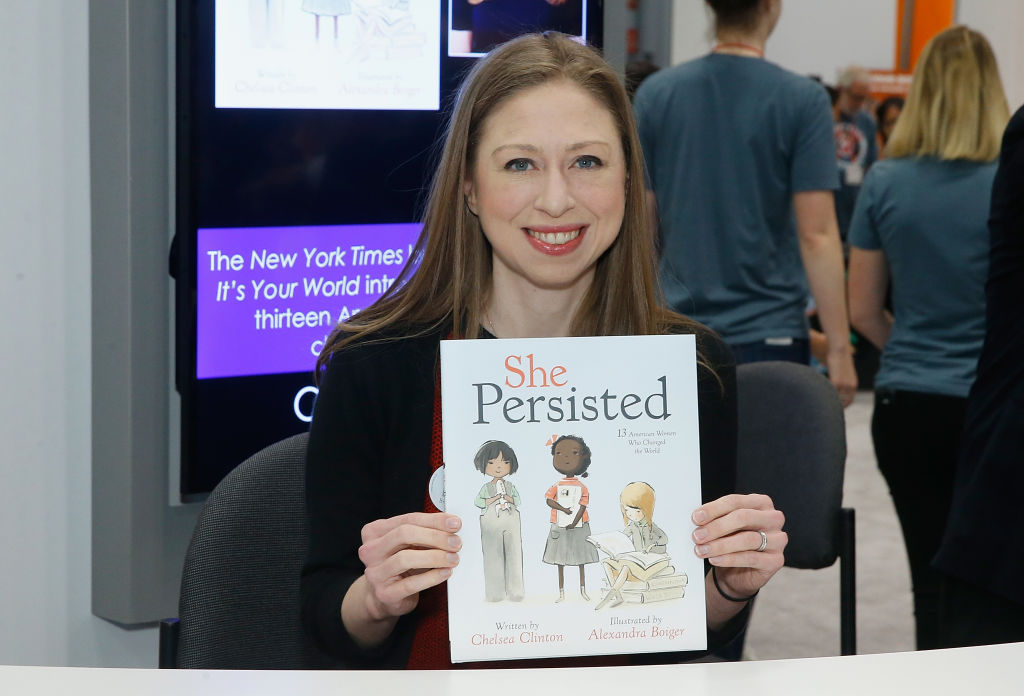 Chelsea Clinton, author of She Persisted children's book
