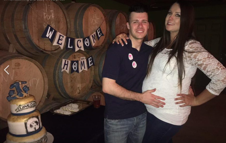 Watch: This Mom Hid Her Pregnancy for 6 Months to Surprise Her Deployed Husband
