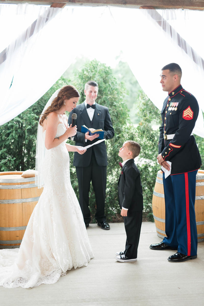 Bride Writes Emotional Vows for Four-Year-Old Stepson
