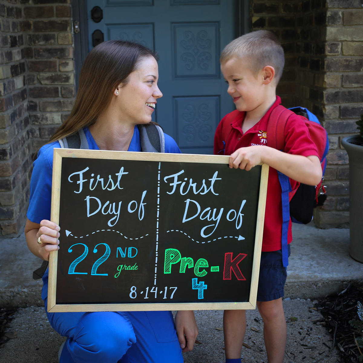 This Mother-Son Back-to-School Photo is the Cutest Thing You'll See Today