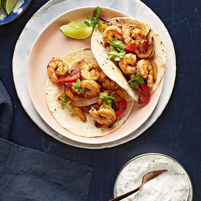 Roasted Shrimp Fajitas