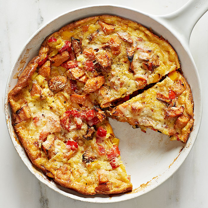 Sweet Potato & Red Pepper Frittata with Green Salad