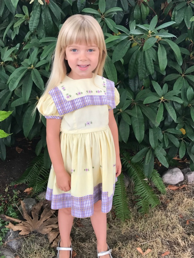 hirt's niece wears kindergarten dress