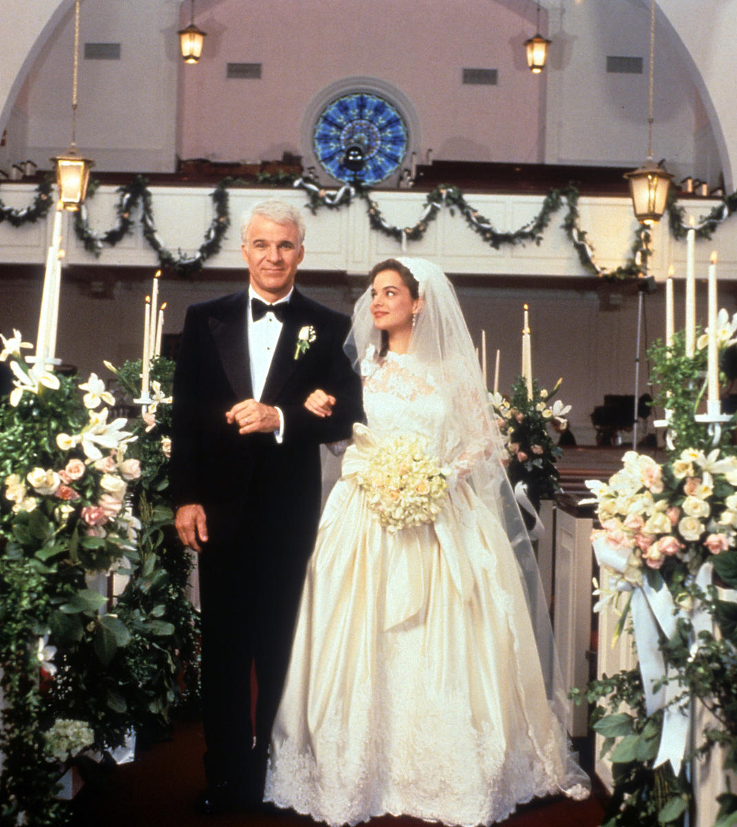 Father of the Bride Movie Wedding Scene with Steve Martin and Kimberly Williams-Paisly