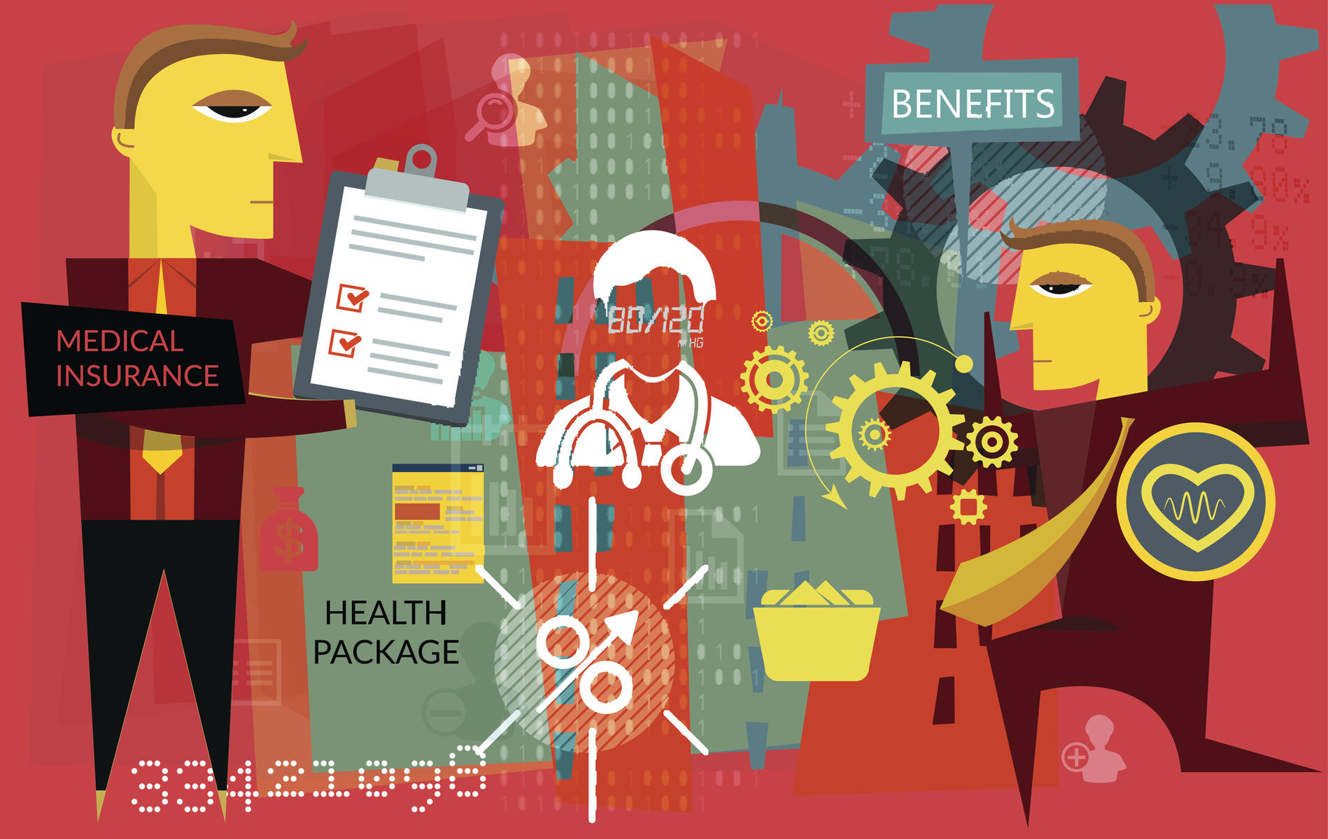Health insurance benefits illustration