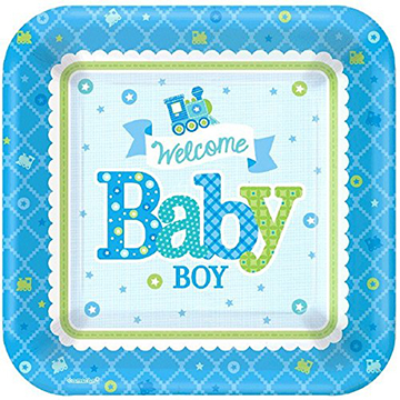 baby boy paper plates