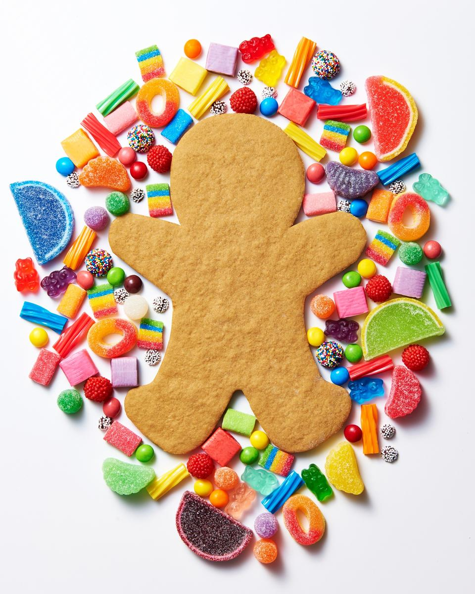 Gingerbread Man Cookie and Candy