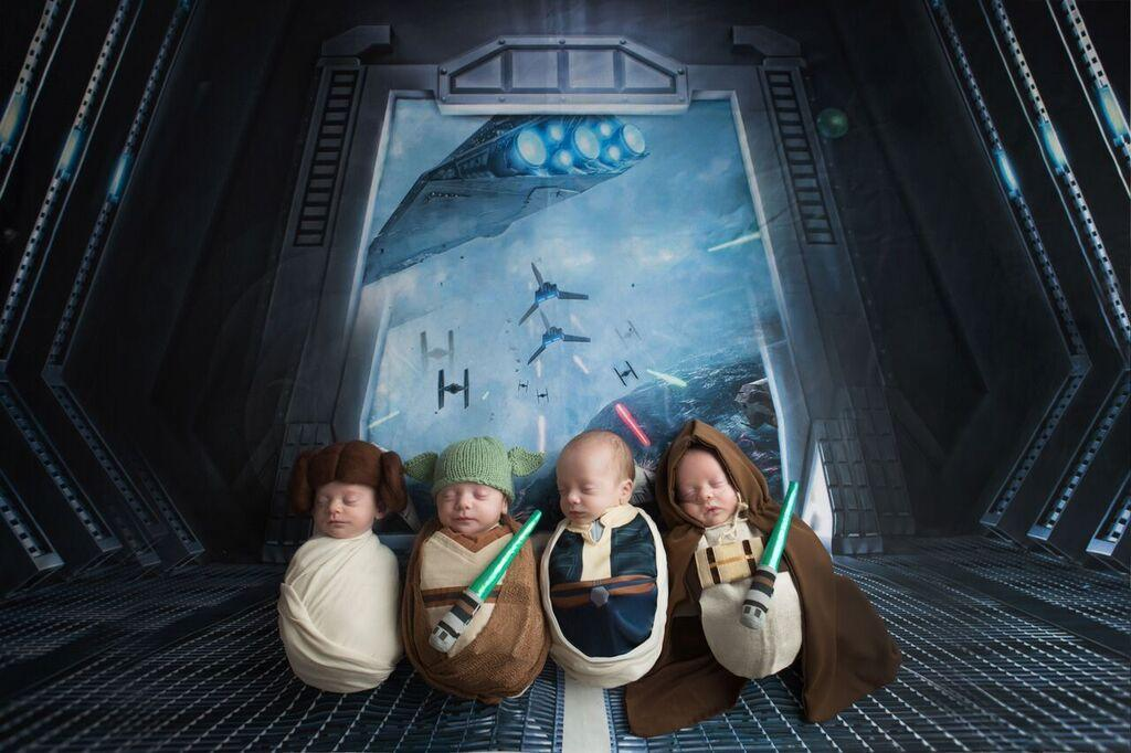 This Quadruplet Preemie's Star Wars-Themed Photo Shoot Is Even Better Than the New Movie