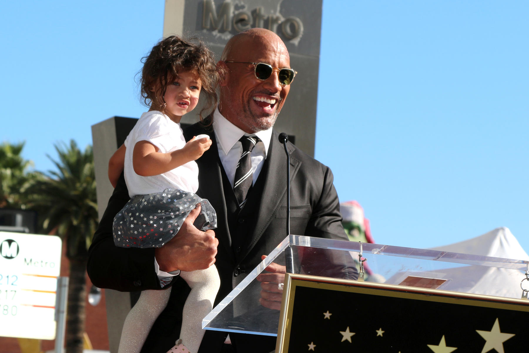 Dwayne 'The Rock' Johnson's Toddler Daughter Is Not Here for His Dad Joke