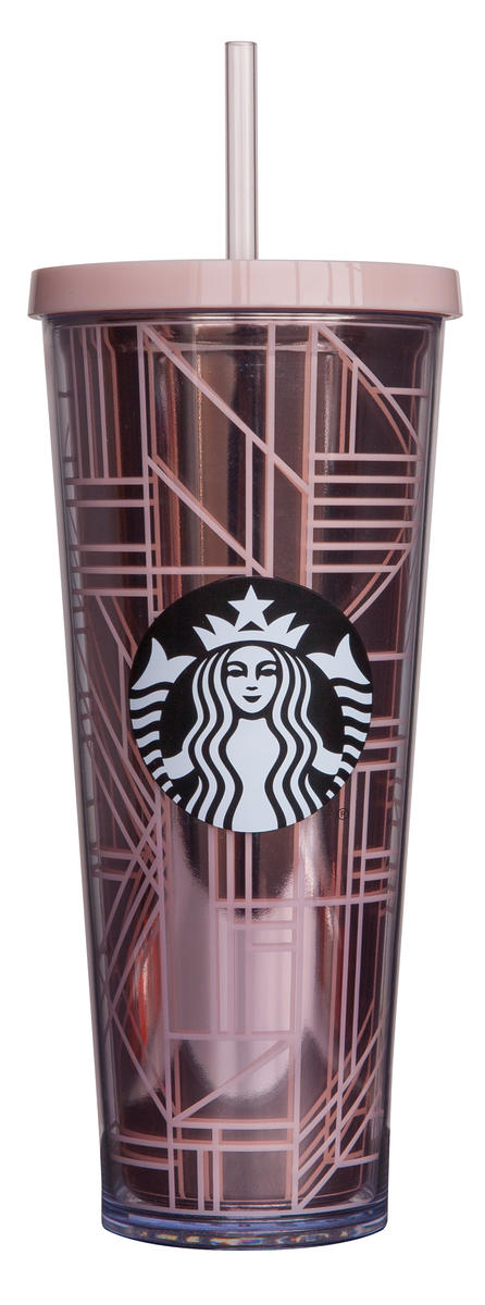 Starbucks Geometric Rose Gold Cup