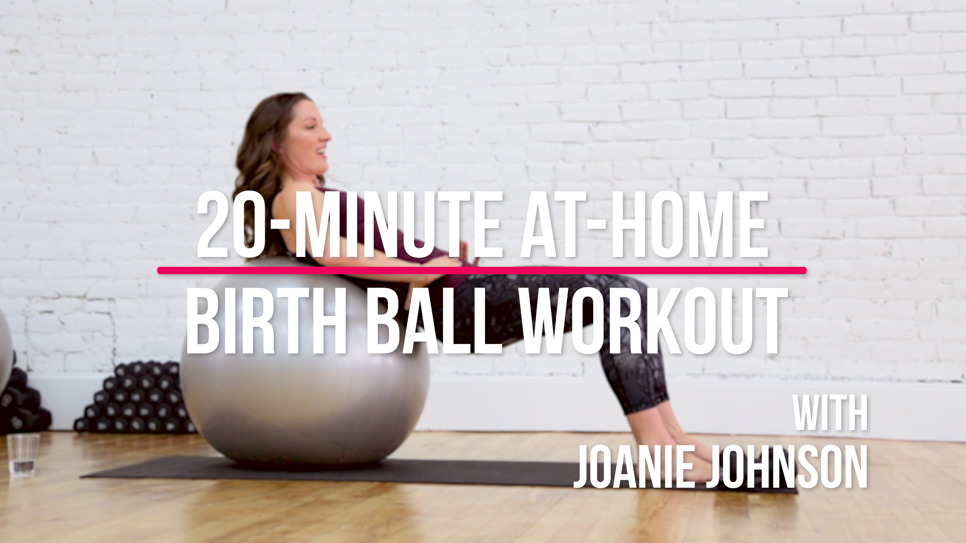 20-Minute Exercise Ball Workout for Pregnancy