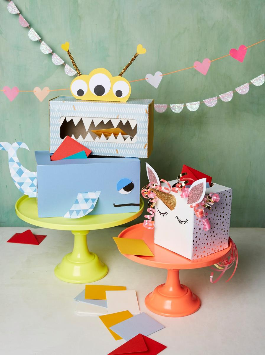 How to Make Valentine's Day Tissue Box Mailboxes