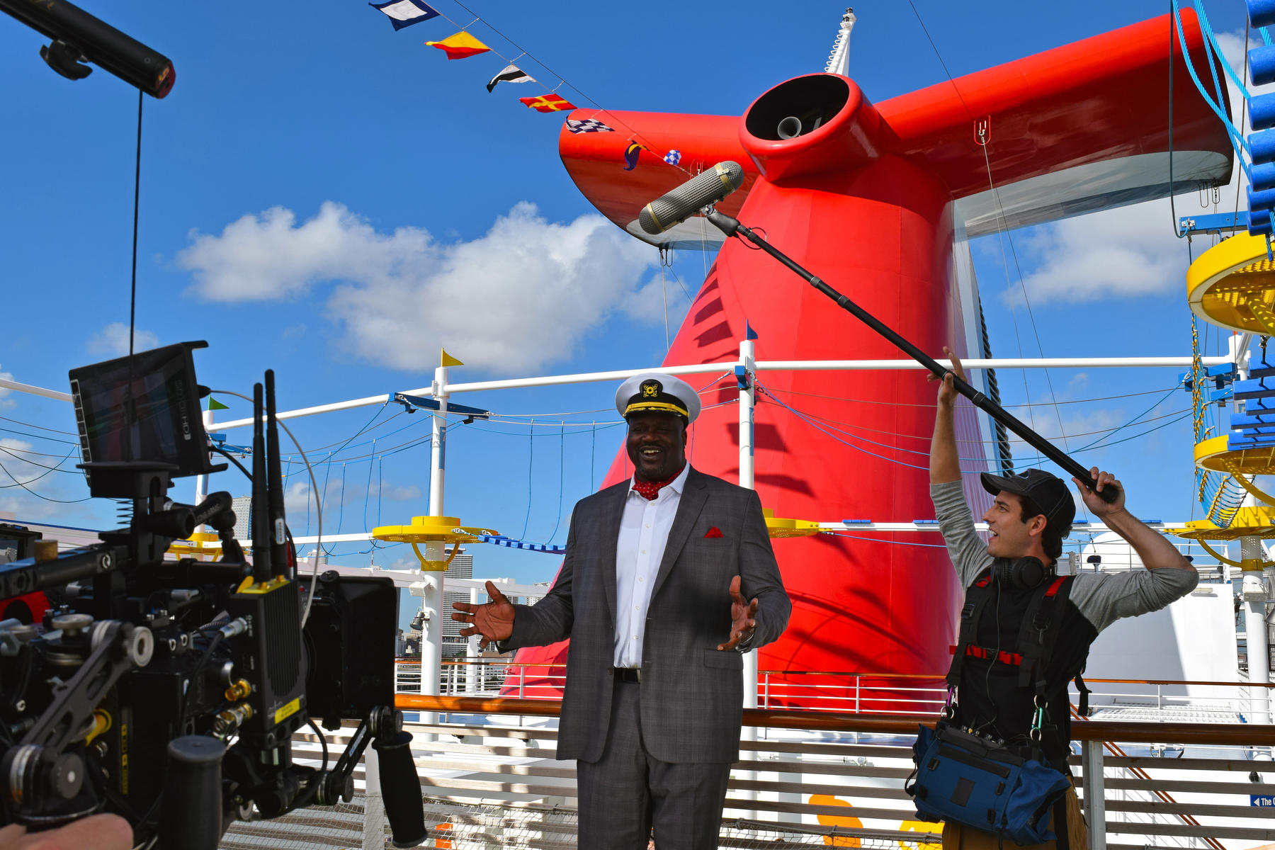 Shaquille O'Neal is CFO (Chief Fun Officer) for Carnival Cruise Line and We're on Board