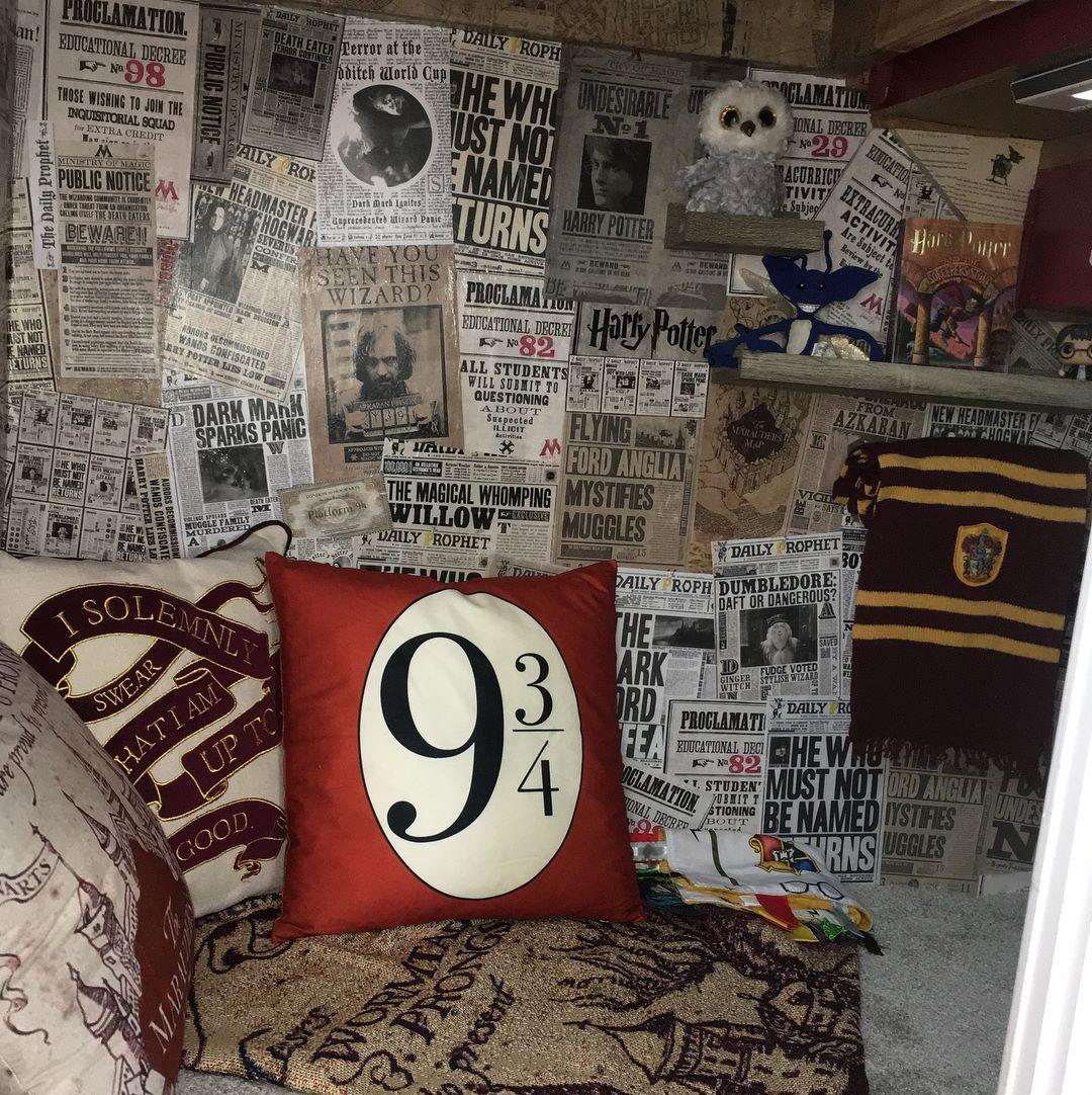 Dad Recreated the 'Cupboard Under the Stairs' From 'Harry Potter' for His Sons