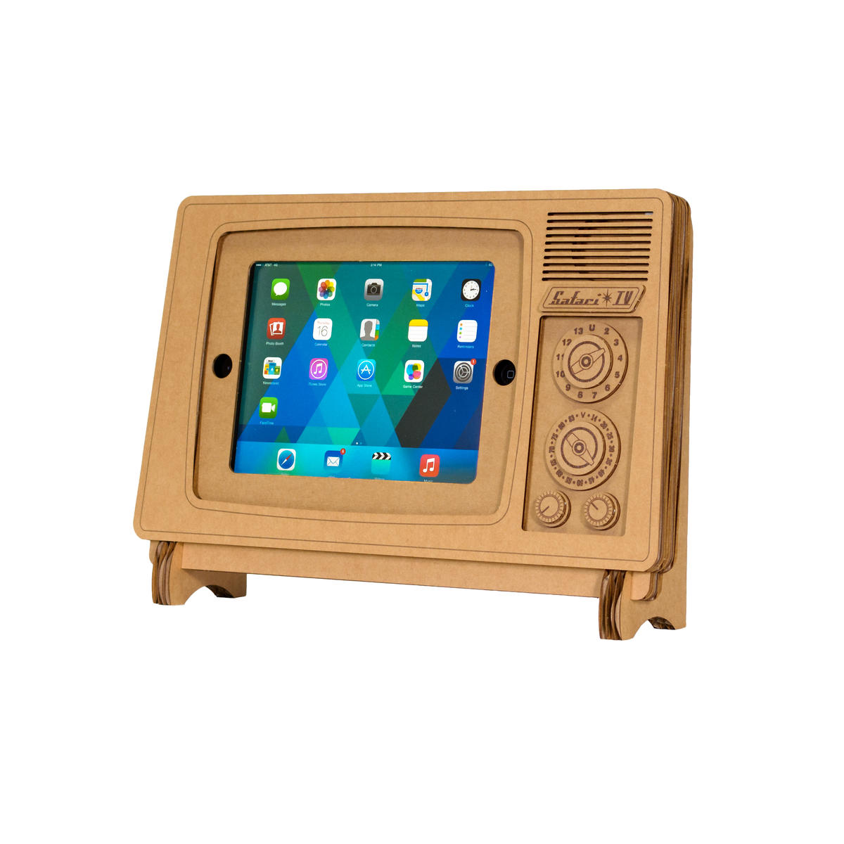 Safari TV Cardboard iPad Stand