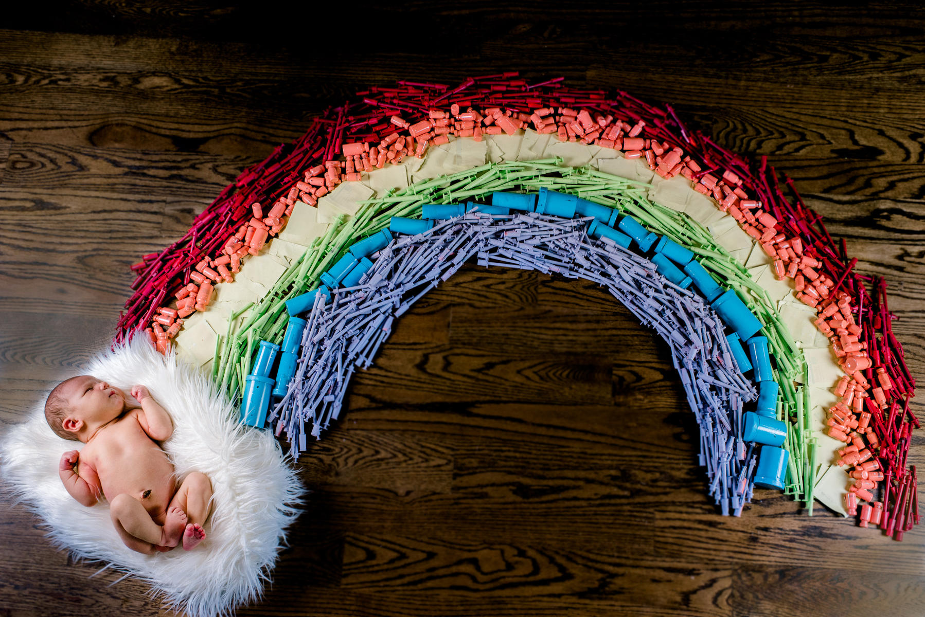 How One Mom's IVF Journey Led to a Stunning Photo of Her Double Rainbow Baby