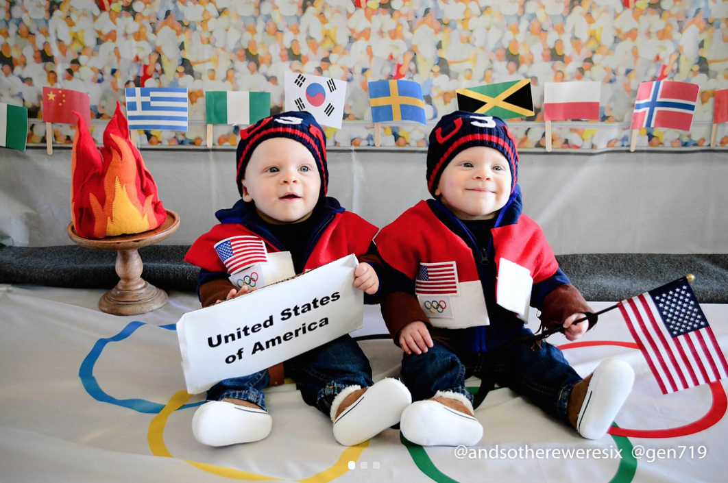 These Olympic-Themed Photos of Twin Boys Are Too Cute