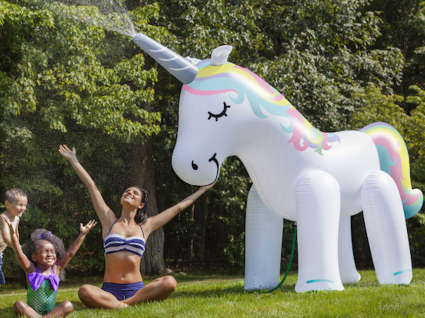 This Unicorn Sprinkler Could Make Your Kids' Summer So Much More Magical