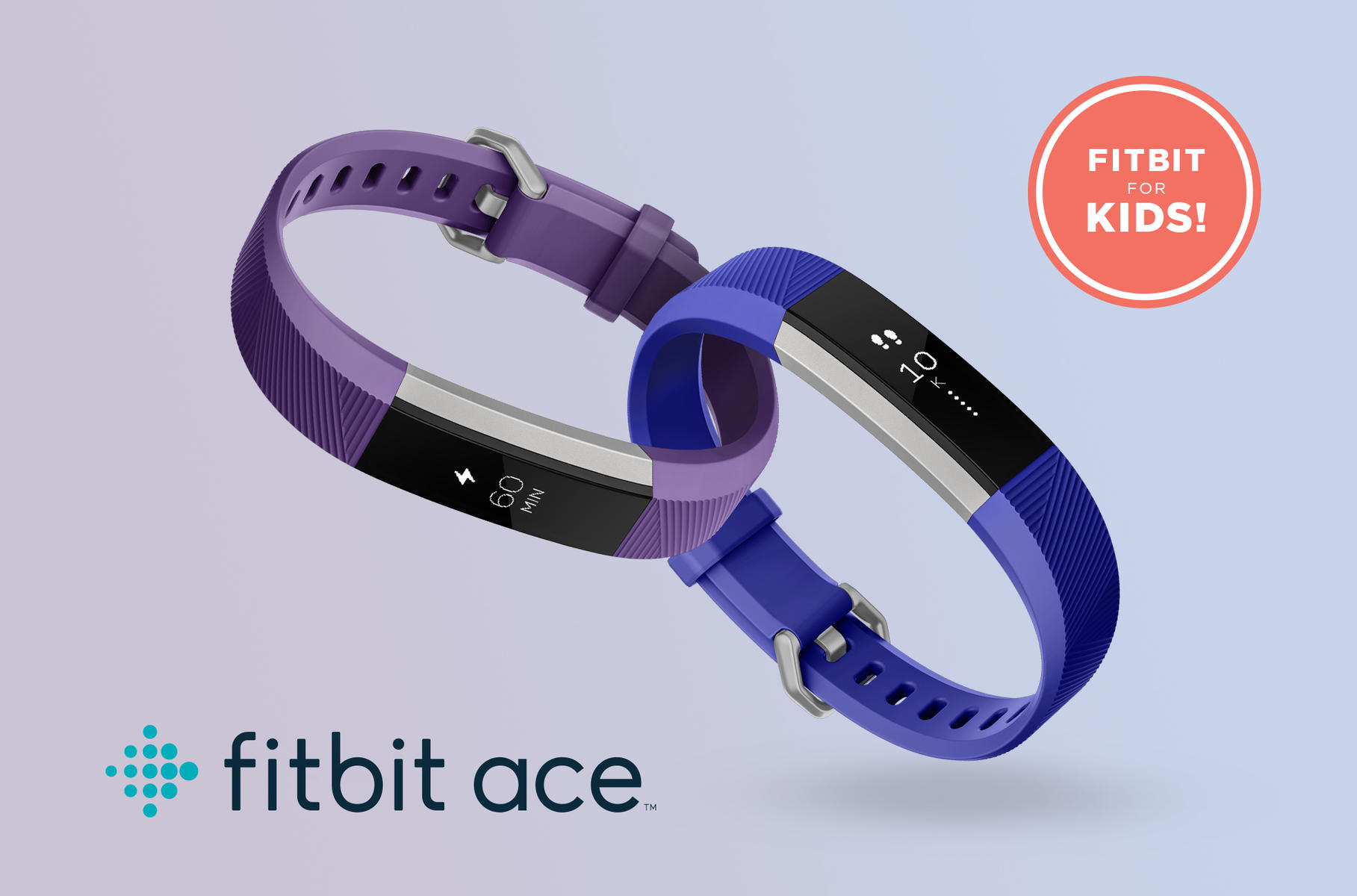 FitBit Ace Family Lineup Purple and Blue for Kids