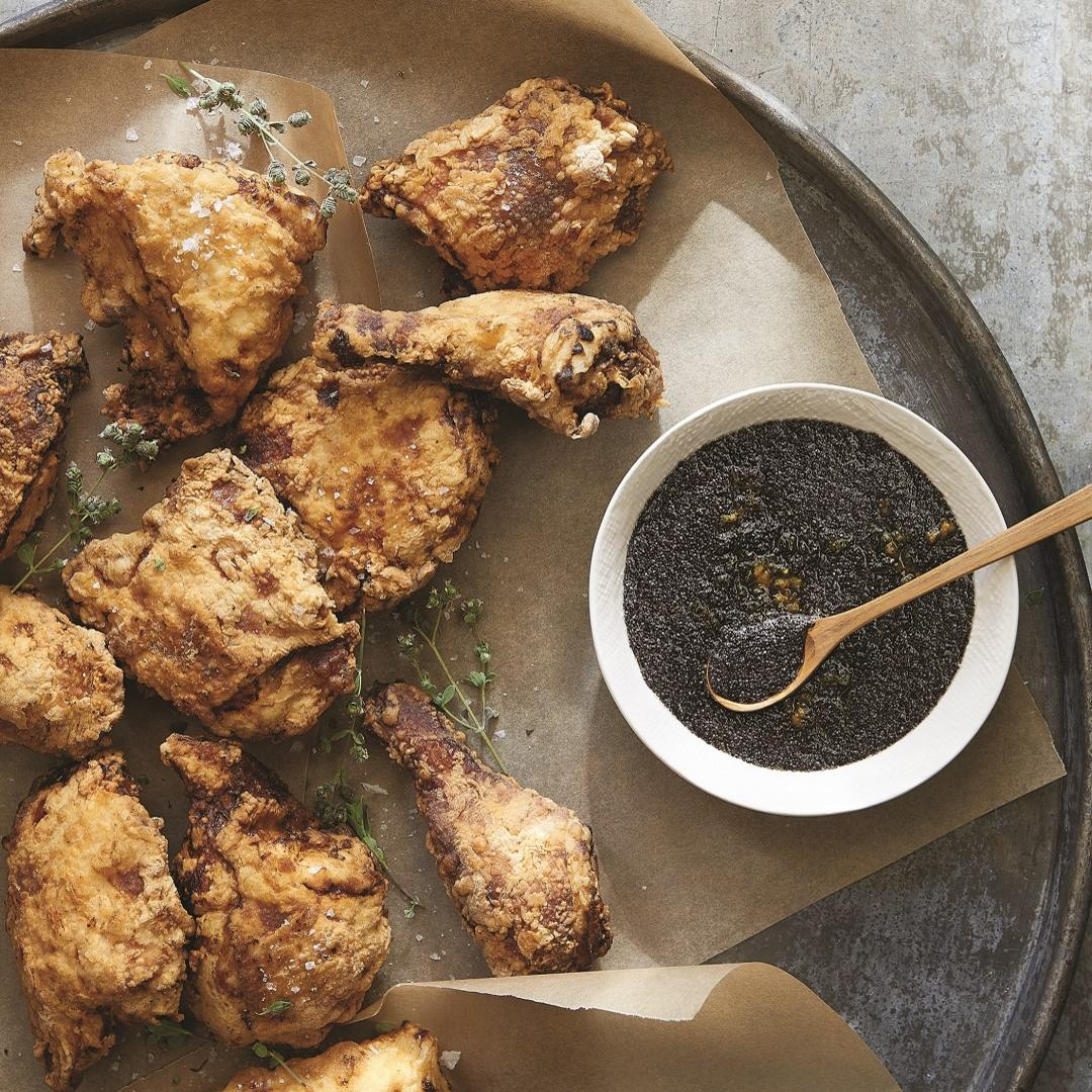 Fried Chicken with Sticky Poppy Seed Jam Magnolia Table Recipes