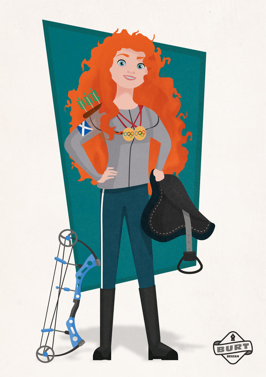 Merida (Brave) - Two-time Olympian (Archery & Equestrian)