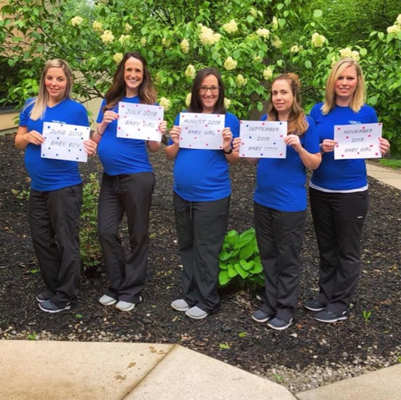 5 Staffers at Ohio Pediatrics Office Pregnant at the Same Time: 'They're Gonna Be Little Besties!'