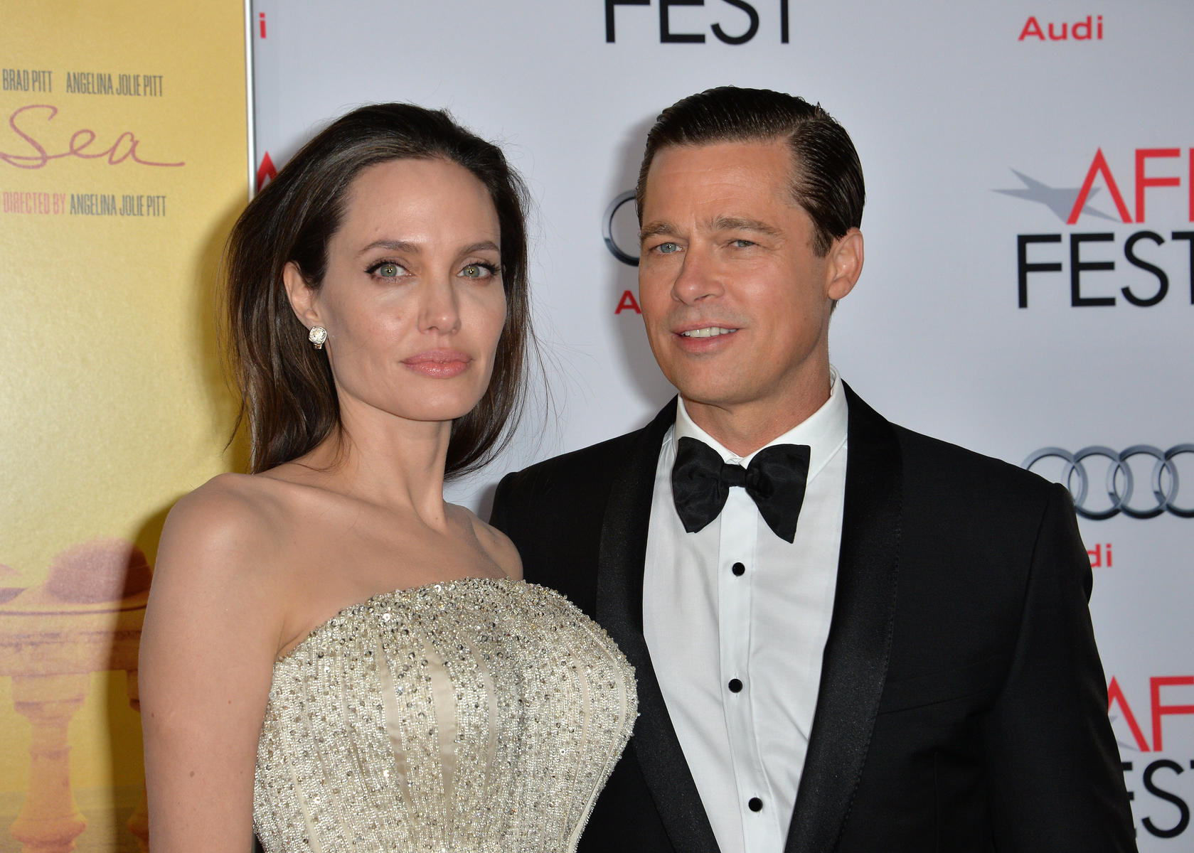 Angelina Jolie and Brad Pitt Red Carpet Closeup