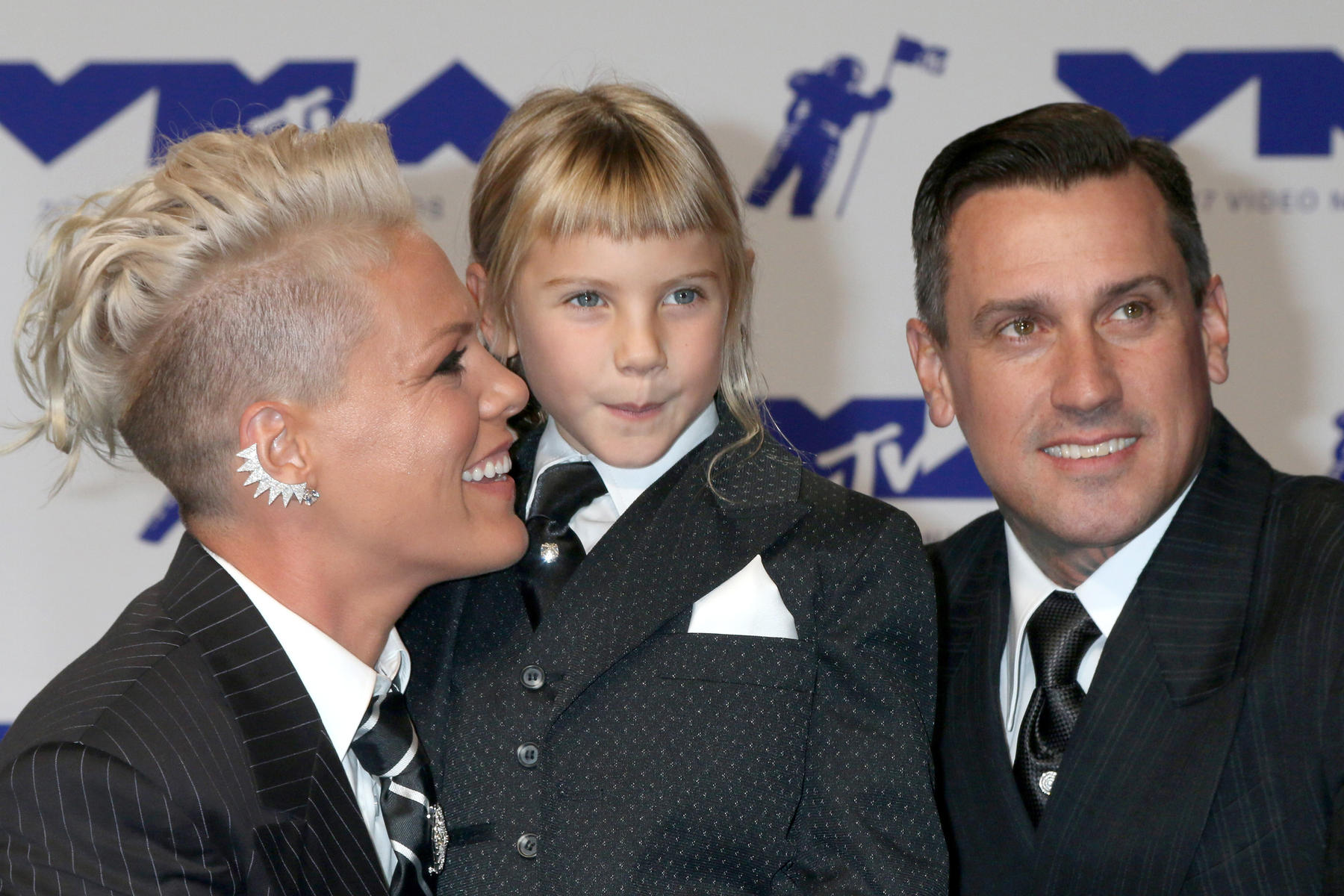 Singer Pink with Daughter Willow Sage and Husband Carey Hart