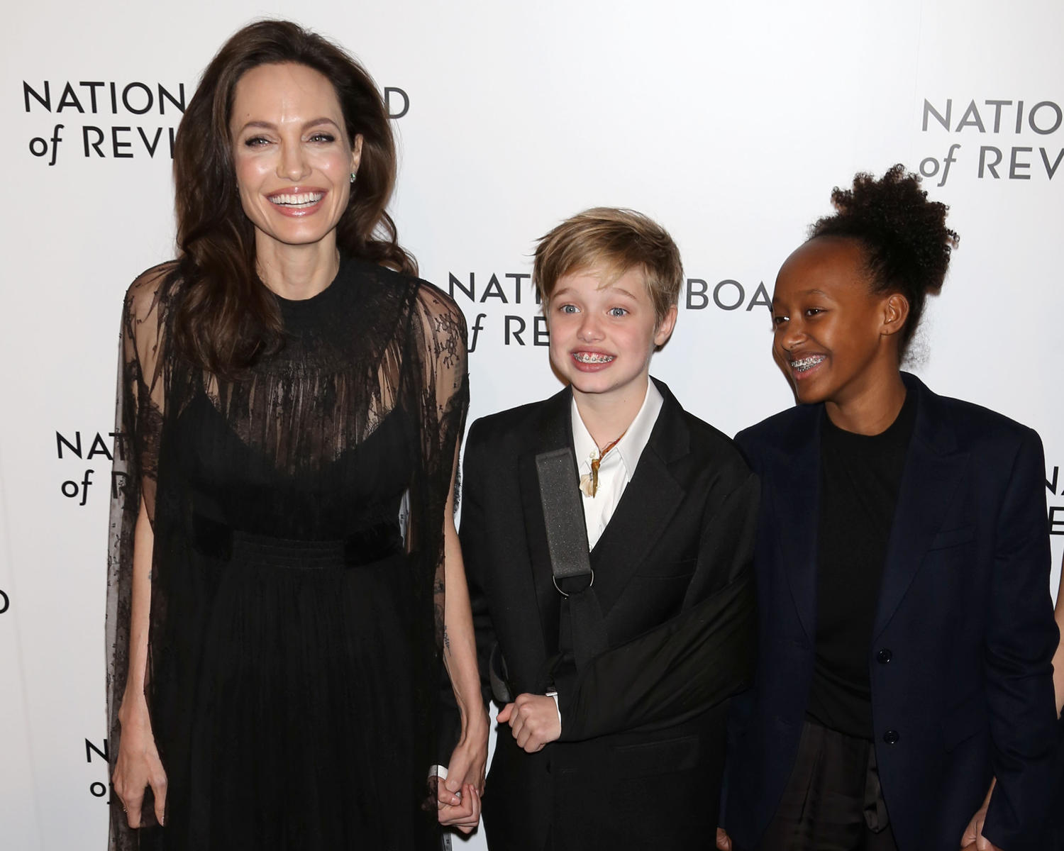 Angelina Jolie and Children Shiloh and Zahara Jolie-Pitt