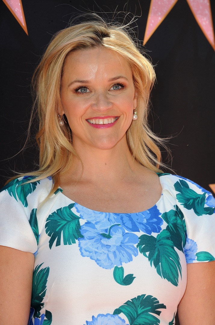 Reese Witherspoon White Blue Floral Dress