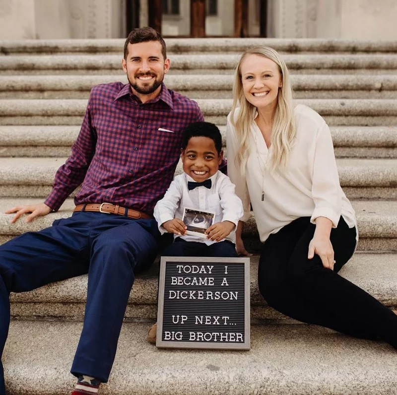 4-Year-Old Celebrates His Adoption and New Baby Sister in Sweet Photo: 'He Was So Happy That Day!'