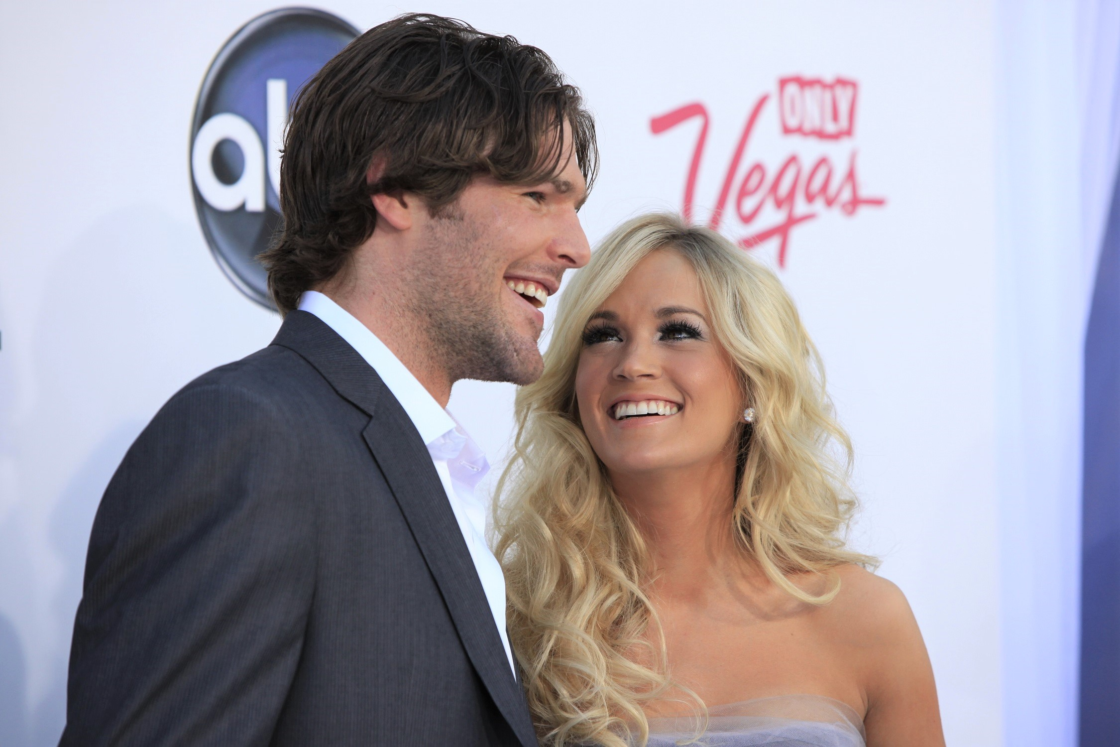 Carrie Underwood Looking Up At Husband Mike Fisher