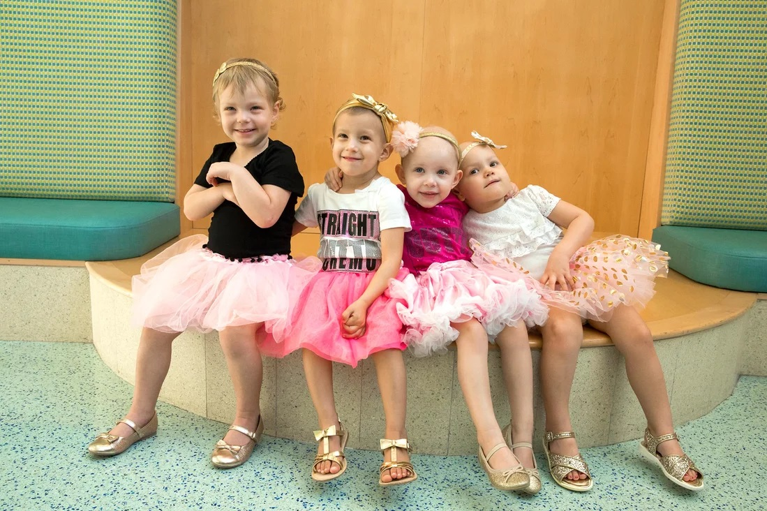 McKinley, Ava, Chloe and Lauren cancer survivors 3