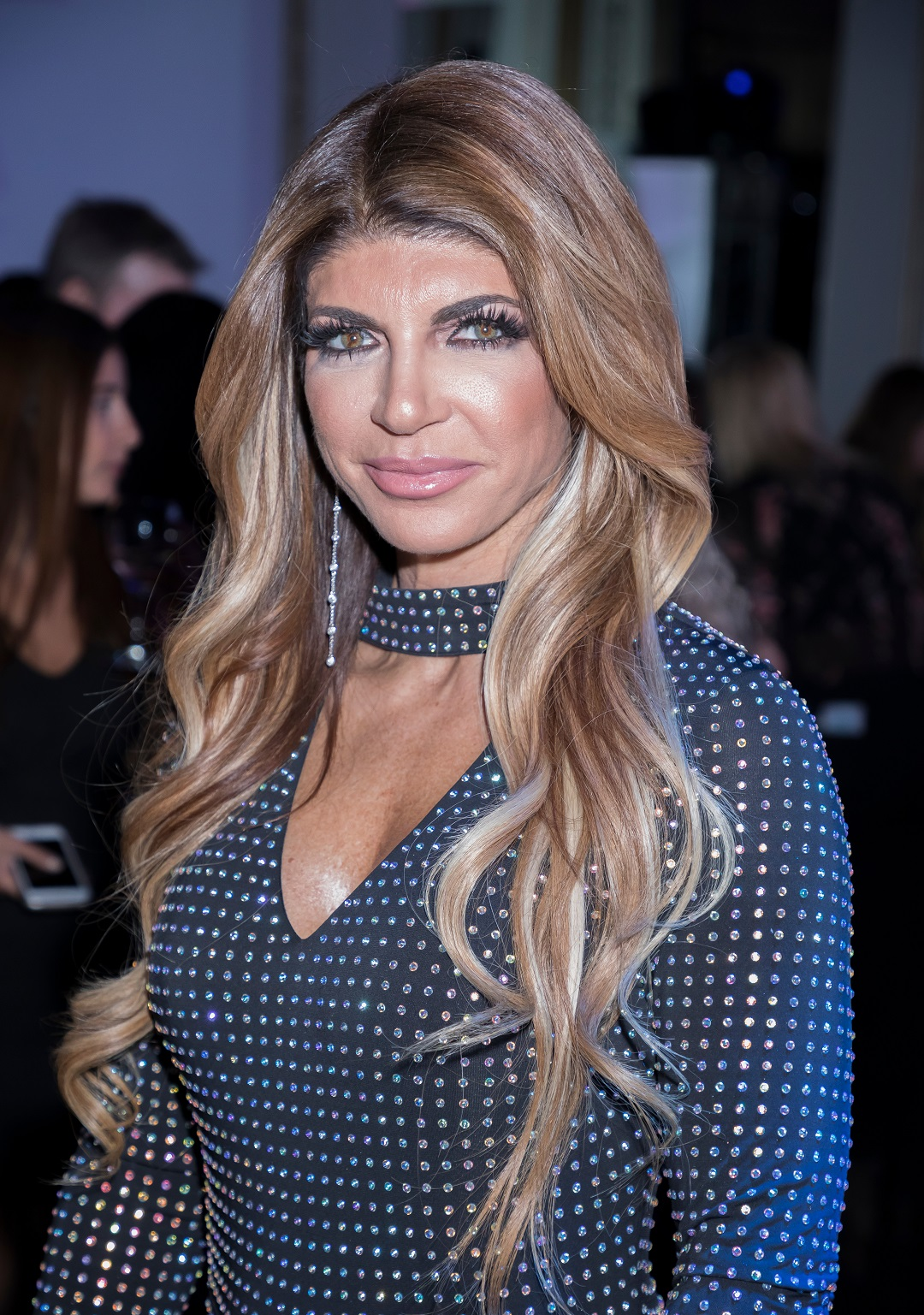 Teresa Giudice Black Crystal Dress