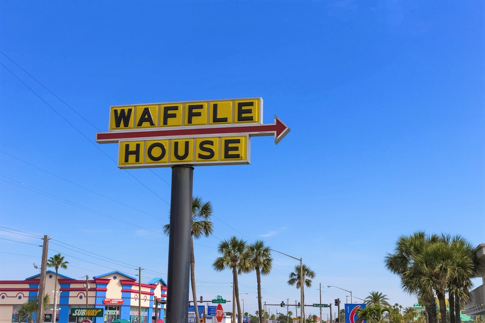 Waffle House Road Sign
