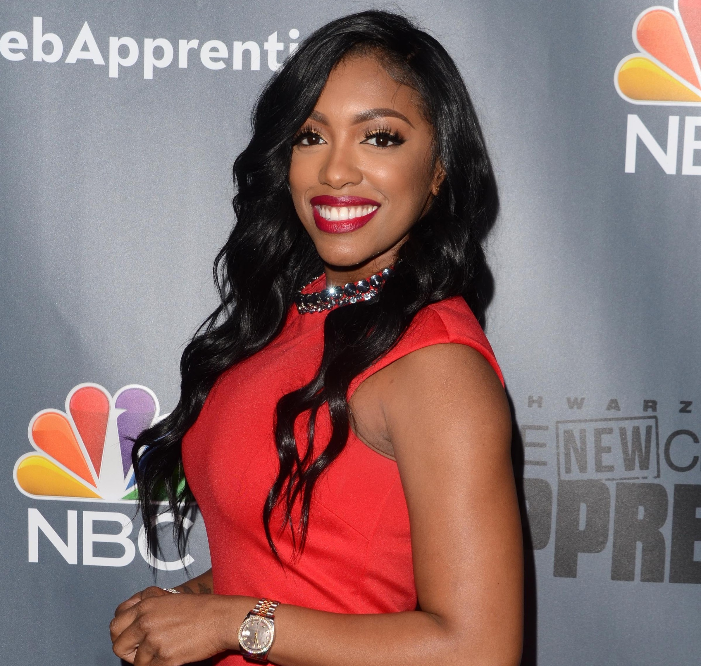 Porsha Williams Red Dress Celebrity Apprentice Carpet
