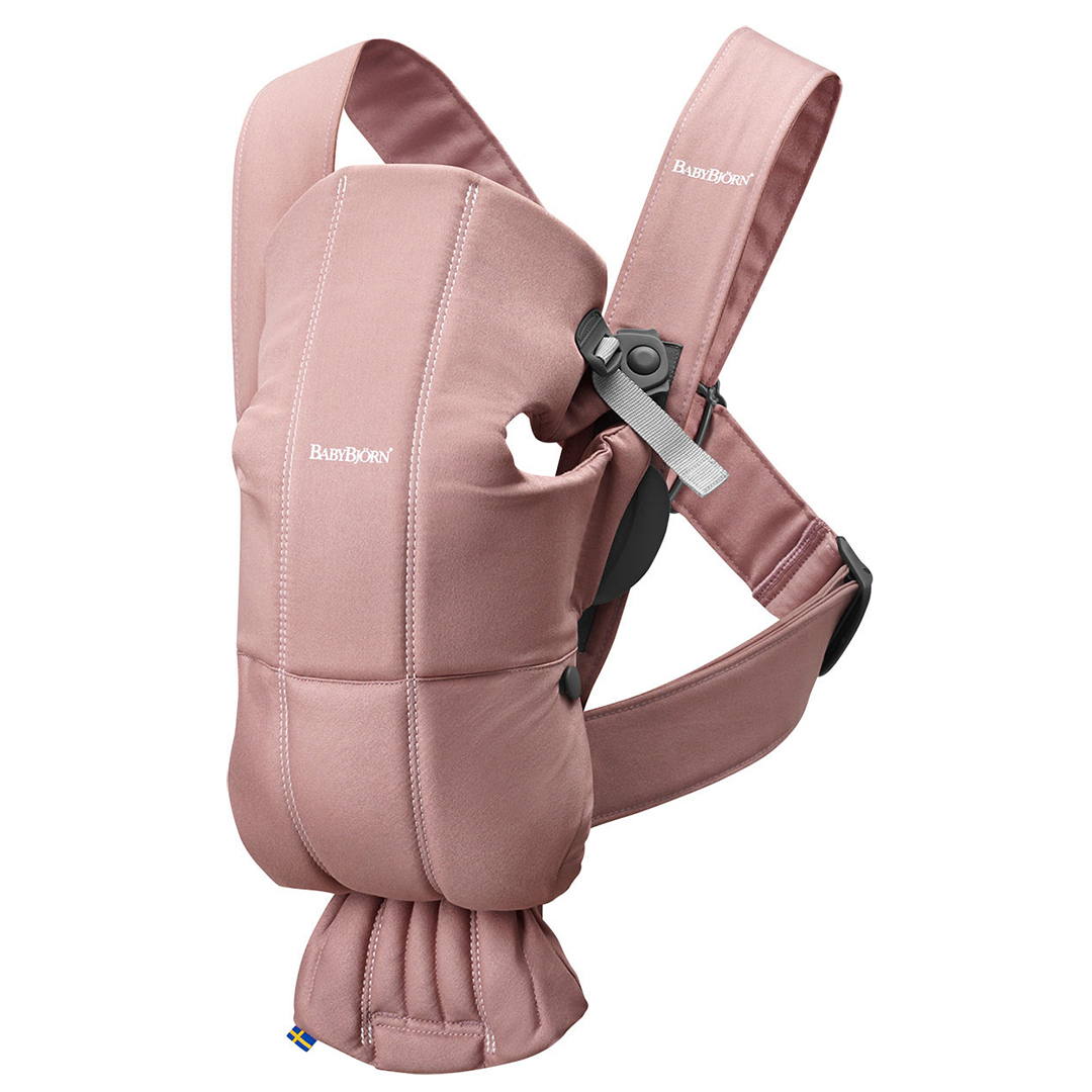 dusty pink baby bjorn baby carrier mini