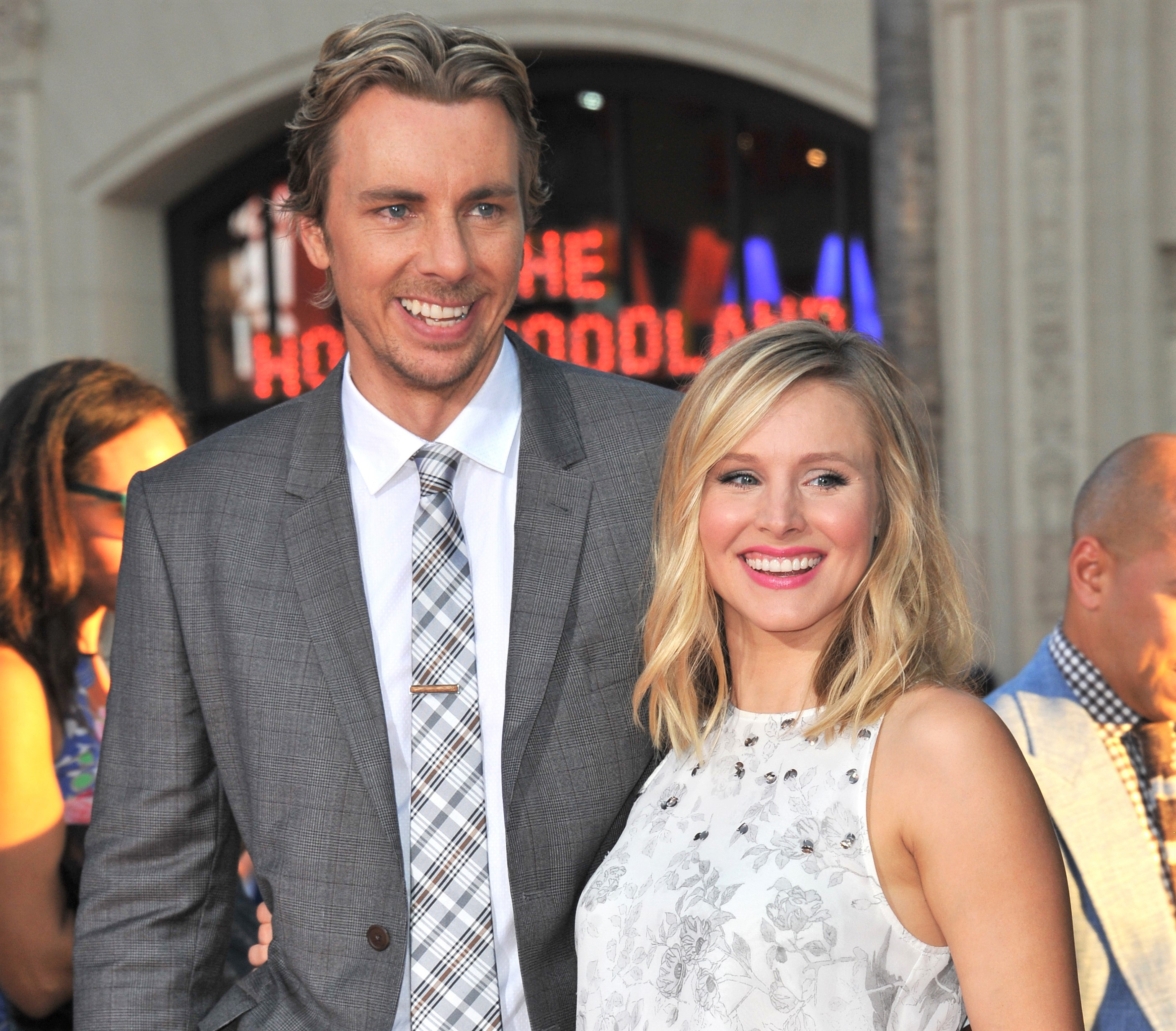 Kristen Bell and Dax Shepard Red Carpet Hollywood Boulevard