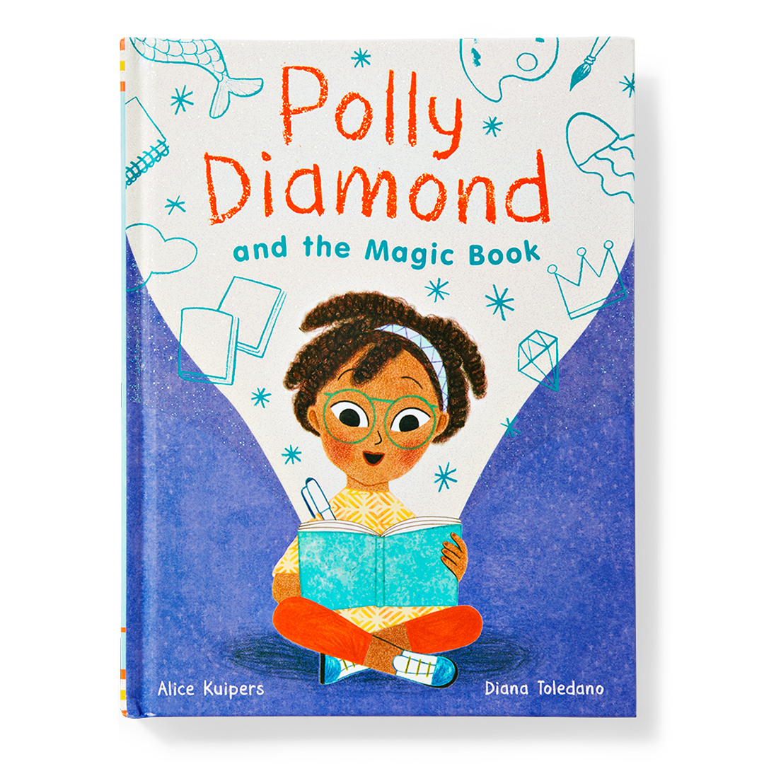 Polly Diamond and the Magic Book girl writing in diary